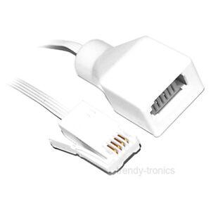 5m Bt Câble Modem Internet Extension Plomb Pour Téléphone Fax En Blanc-afficher Le Titre D'origine