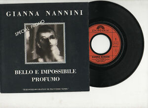 Dettagli su GIANNA NANNINI disco 45 giri FRANCE Bello e impossibile PROMO stampa FRANCESE