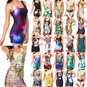 comfortable clubbing party dresses funky casual dancers galaxy vests