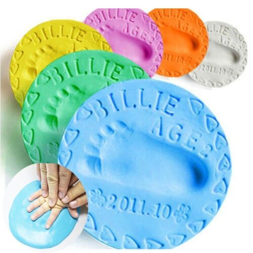 Soft Baby Care Air Drying Clay Baby Handprint Footprint Imprint Kit Casting