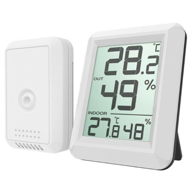 Digital Wireless Hygrometer Lcd Thermometer Indoor Outdoor Electronic Tempe F5B8