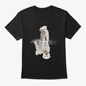 Maltese-Reflection-Love-Dog-Hanes-Tagless-Tee-T-Shirt