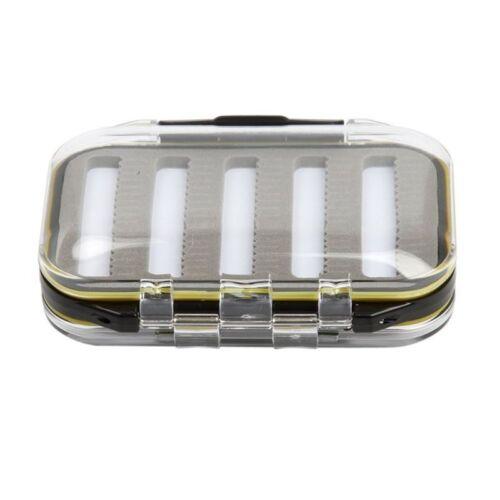 Angeln Wasserdichte Fliegen Box Die Doppeltaschengröße Gesichtseinsatz Schaum