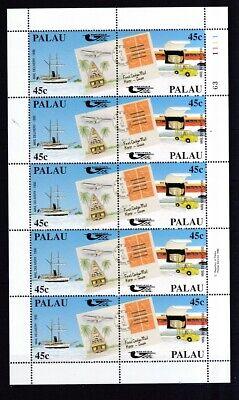 Palau-inseln 1990 Postfrisch Bogen Minr. 395-396 Postbeförderung