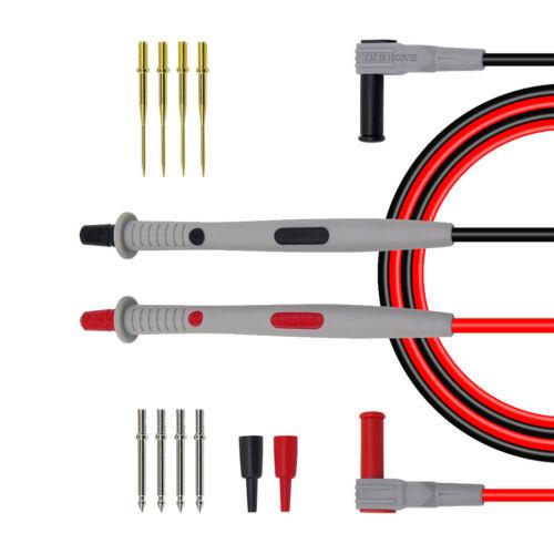 4mm Banana Plug Test Lead Kit for Multimeter Tests Probes 12-in-1 Sets
