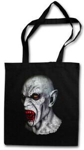 VAMPIRE HEAD STOFFTASCHE True Bite Vampir Jaws Blood Dracula Blood Count Bat