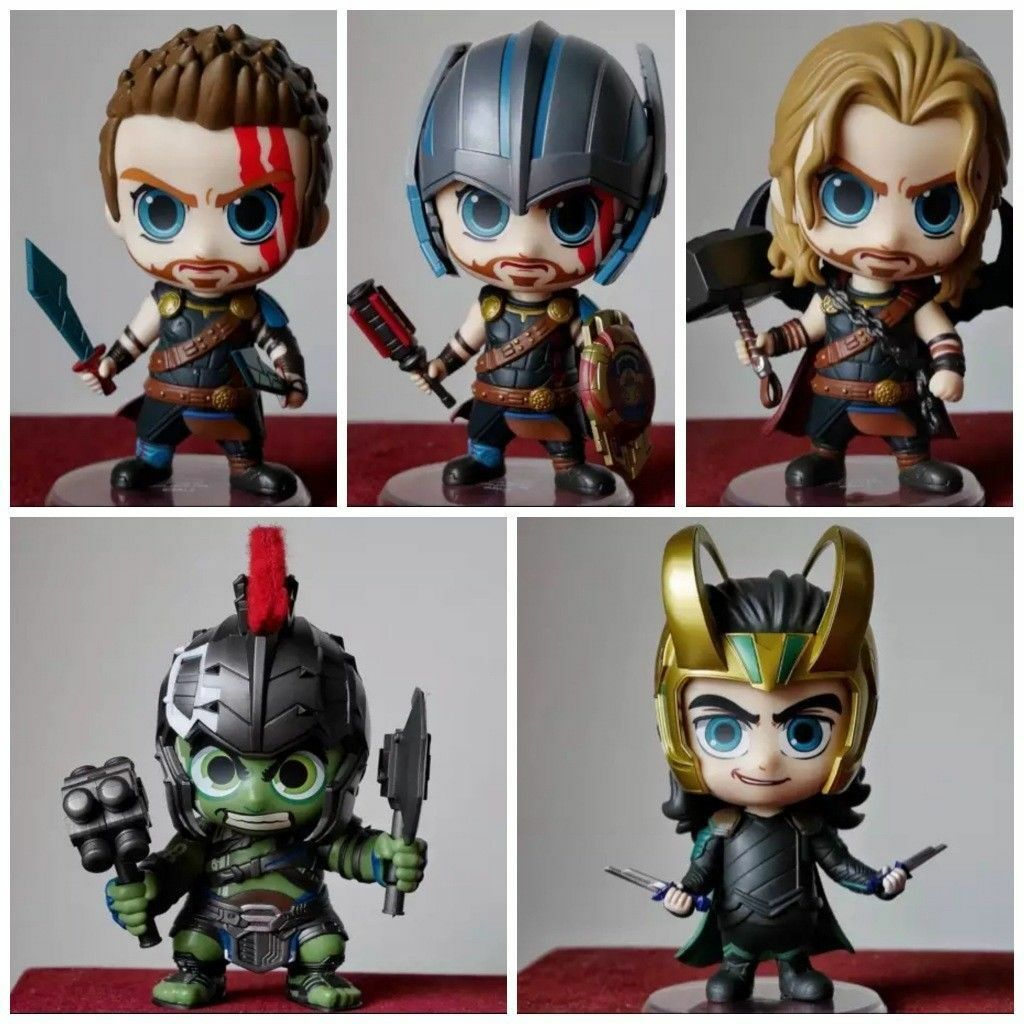 Thor  ragnarök cosbaby thor loki hulk süßen mini - wackelkopf pvc figure new in box