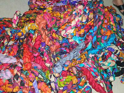 Sari Silk Ribbon Yarn Crochet/Knitting Yarn 1000 Grams 100% Pure Silk FREE  SHIP | eBay