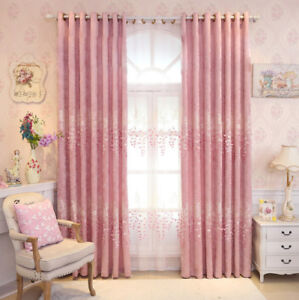 Image Is Loading Pink Window Sheer Tulle Cloth Curtains Bedroom Shades