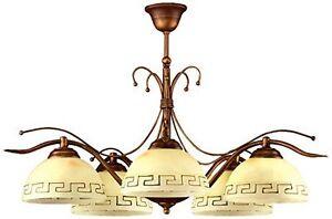Das Bild Wird Geladen Mediterrane  Deckenleuchte Deckenlampe 5 Flammig Esszimmerleuchte Lampen Leuchten