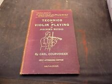 The Technics of Violin Playing Carl Courvoisier 1st Ed 1894 Strad Library No I