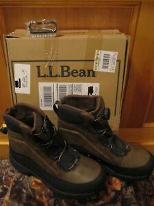 New Mens Ll Bean River Treads Wading Boots Boa 12m Aqua Stealth Sole Free Brush Ebay