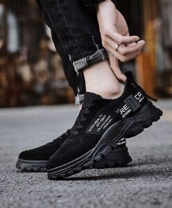 Chaussures de Sport Gymnastique Confortable Homme Noir Lacets 9007