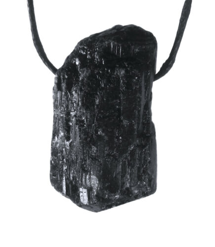 Negro Turmalina//Turmalina Gema Piedra Burda Colgante Cristal Perforadas con