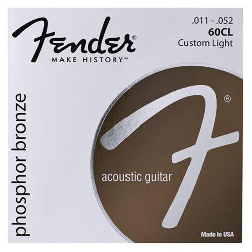 Fender 60CL Phosphor Bronze Custom Light Acoustic Guitar Strings 11-52