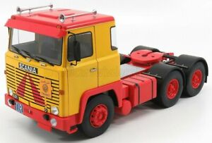ROAD-KINGS 1/18 SCANIA   LBT 141 TRACTOR TRUCK 3-ASSI 1976   YELLOW RED