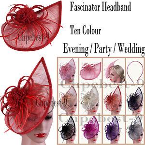 GRANDE Royal Blue Fascia per capelli Fascinator con Donna Giorno Razze Ascot matrimoni