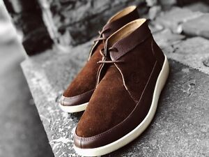 Details about Johnny Famous Men s Central Park Brown Suede Bally Style  Casual Oxford Shoes 35e87d5a968
