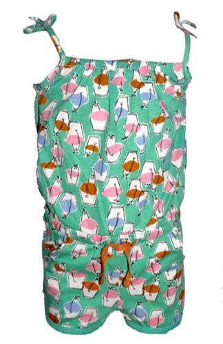 100/% Cotton Summer Playsuit Choice Colour Size