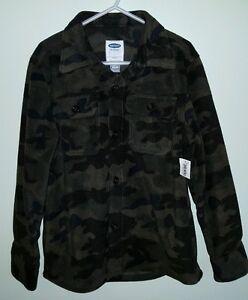 NWT-Old-Navy-Boys-5-6-7-8-Fleece-CAMO-Button-Down-Shirt-Jacket-HUNTING-32116