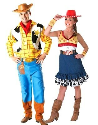 6ed46dec6 Adult Disney TOY STORY Fancy Dress Costume Deluxe Jessie or Woody Book Day  Party | eBay