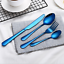 4Pcs-Colorful-S-S-Dinnerware-Black-Cutlery-Fork-Spoon-Teaspoon-Dinnerware-Top thumbnail 11