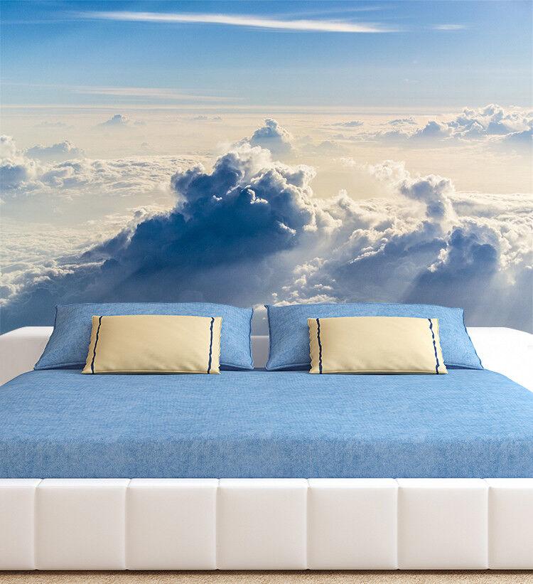 3D Wolken blueen Himmel6 Tapete Tapeten Mauer Foto Familie Tapete Wandgemälde DE