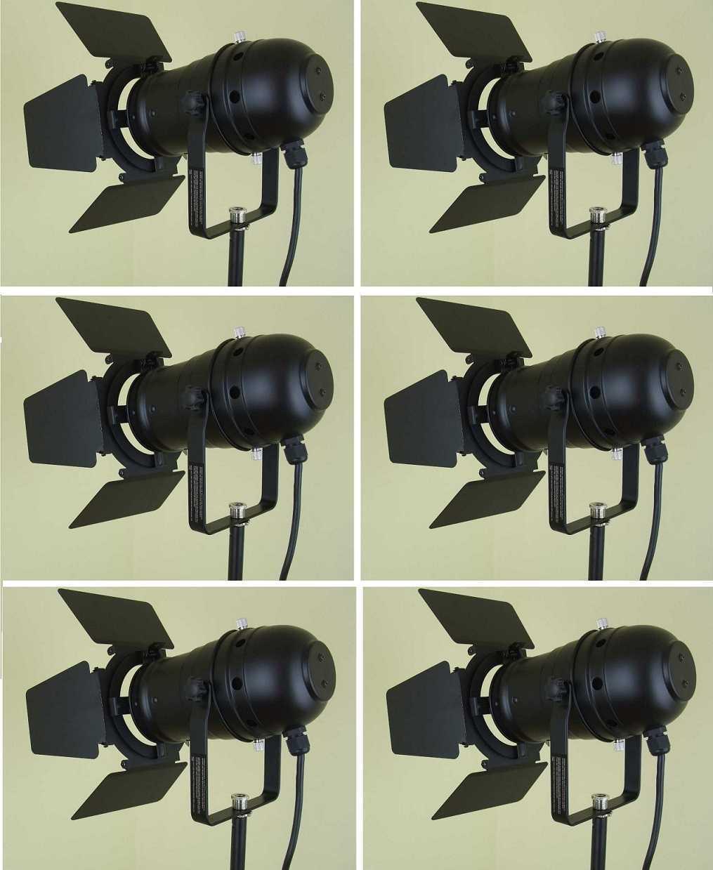 6x par-30 Spot-Phares Noir Incl. torblende ailes délim, e27 version