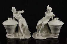 Antique Nymphenburg pair of figurines African Man and Woman WorldWide