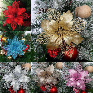 10x-Glitter-Xmas-Hollow-Flower-Christmas-Tree-Hanging-Ornament-Party-Home-Decor