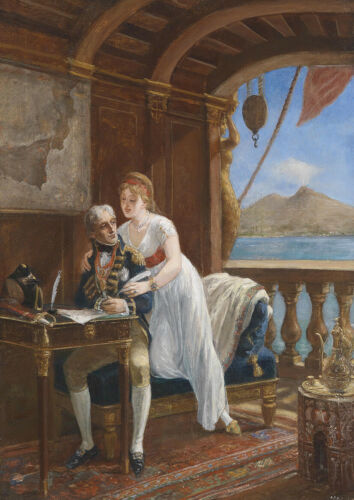 Admiral Nelson and Lady Hamilton in Naples Fine Art Print//Poster