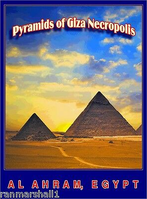 Pyramids Giza Necropolis Egypt Egyptian Al Ahram Travel Art