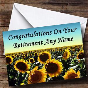 sunflower field personalised retirement greetings card ebay