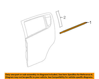 GM OEM Rear Window//Door-Belt Molding Weatherstrip Right 22774087