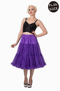 Hot Pink 50/'s Rockabilly Super Soft 23 inches Petticoat Skirt By Banned Apparel