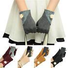 Attractive Womens Touch Screen Winter Warm Soft Cotton Wrist-Gloves Mittens