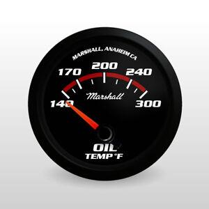 C2-Redline-Oil-Temperature-Gauge-Black-Bezel