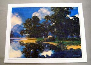 Vintage-1970-039-s-Maxfield-Parrish-Sheltering-Oaks-Canvas-Print