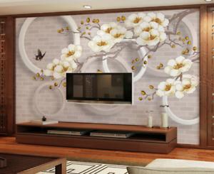 3D Flower Butterflys 7 Wall Paper Murals Wall Print Wall Wallpaper Mural AU Kyra
