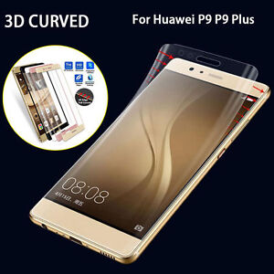 3D Curved 9H Full Cover Tempered Glass Screen Protector Flim For Huawei P9/Plus
