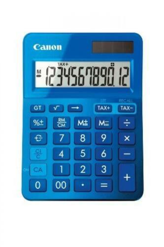Solaru.Batteriebetrieb Canon LS-123K blau metallic Rechner 12-stellig