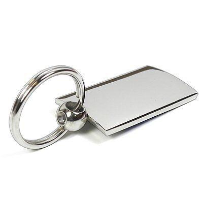 Chrysler Gray Spun Brushed Metal Key Chain