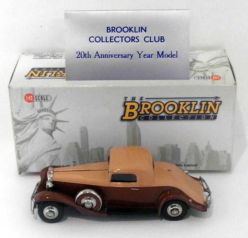 Brooklin 1 43 Scale - BRK116X 1931 Marmon Sixteen 2 Passenger Coupe BCC '08 BRWN