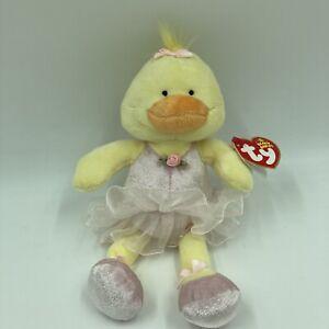 Ty Beanie Babies Allegro Yellow Duck Dress Ruffled Plush Stufffed Animal New Nn