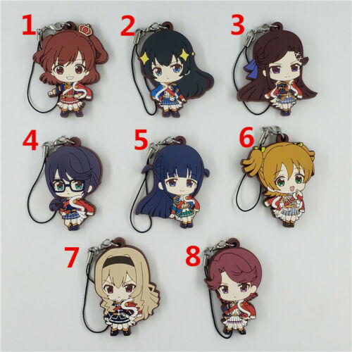 Anime  Revue Starlight  rubber Keychain Key Ring Race Straps