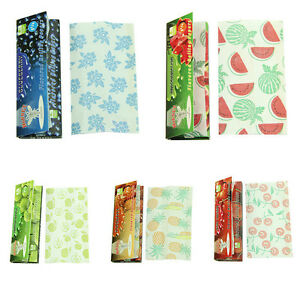 5 Fruit Flavored Smoking Cigarette Hemp Tobacco Rolling Papers 250 Leaves New FT 4099467155176
