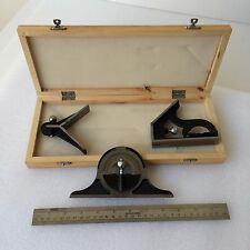 12 Inch Combination Square Set Welding Gauge Square Protractor Center Head Rule