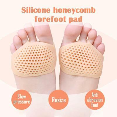 2PC Soft Silicone Honeycomb Forefoot Pad Foot Versatile Use Reusable Pain Relief