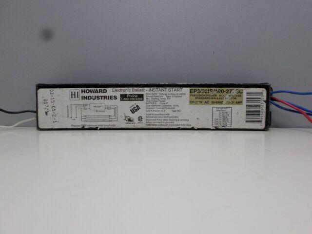 F32T8 Lamps Halco EP432IS//MV//MC Fluorescent 120//277V Ballast for 4 6-Pack
