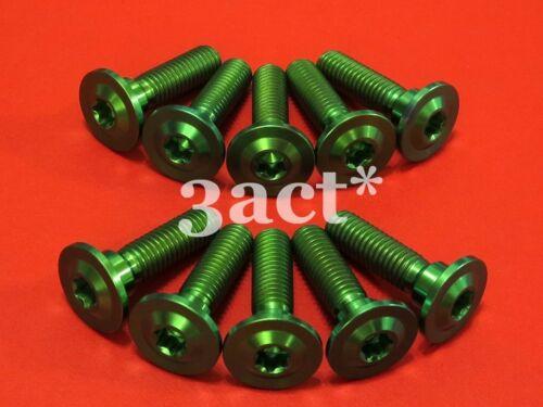 10 Green M8 x 30mm 1.25P Hot Forged Titanium//Ti Disc Brake Rotor Bolt Kawasaki